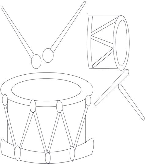 drums of printable coloring sheet coloring pages