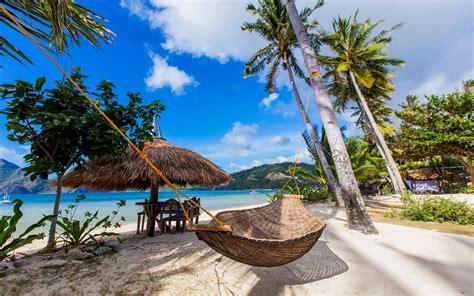 Hamac Plage by Fonds D Ecran 3840x2400 Philippines Tropique C 244 Te