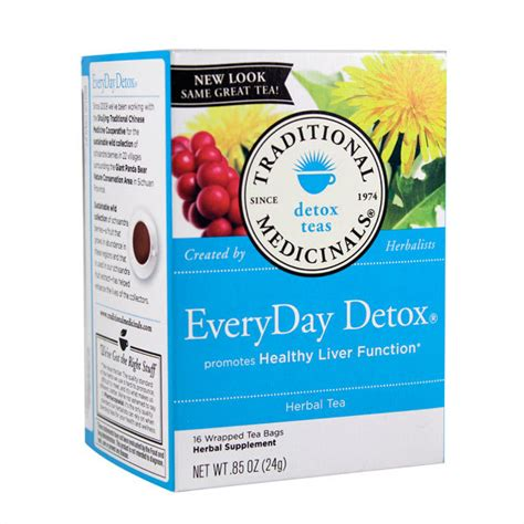 Traditional Detox Tea by Traditional Medicinals Everyday Detox Tea 16 Smallflower