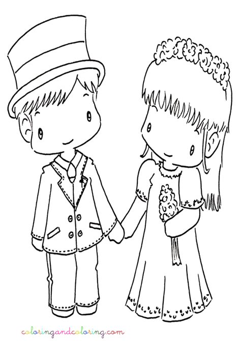 wedding cartoon coloring pages az coloring pages