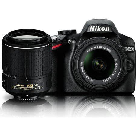 nikon d3200 24.2 mp dslr dual vr ii lens kit with 18 55mm