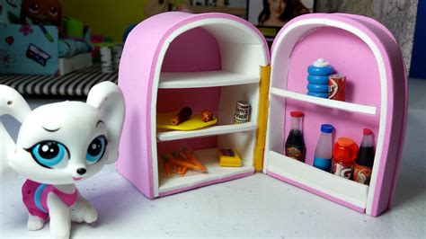 How To Make Lps Stuff Out Of Paper - diy lps fridge doll how to