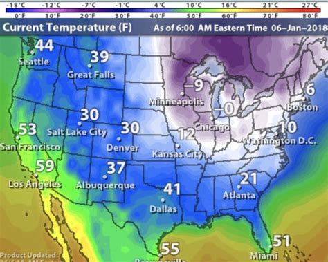 weather map of us right now how cold is it in the usa right now weather map shows big