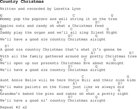 printable lyrics and chords country christmas carols my blog