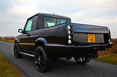 range rover truck conversion black discovery td5 pickup by longranger landrover