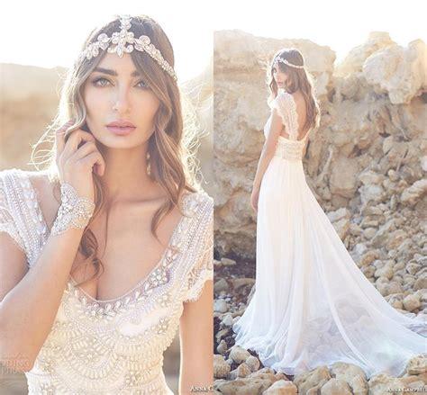 anna cbell inspired beach wedding dresses sleeves 2015 vintage anna cbell beach wedding dresses lace 2016 a line v