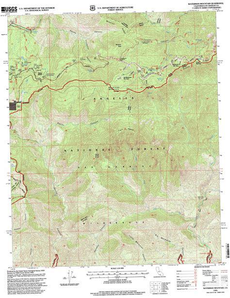 usgs topo maps california waterman mountain topographic map ca usgs topo 34117c8