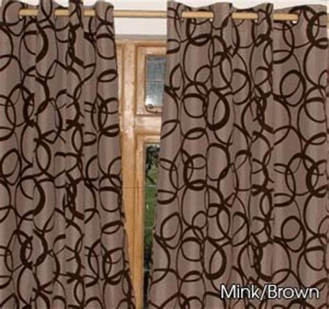 brown curtains 90 x 90 chocolate brown silver with black velvet circles eyelet
