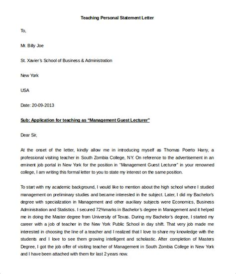 statement of support letter sle 28 images sle letter