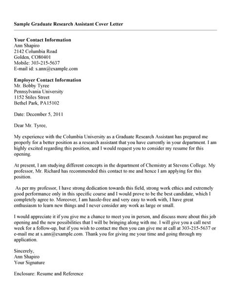 application letter for research assistant resume exles templates how to write cover letter for