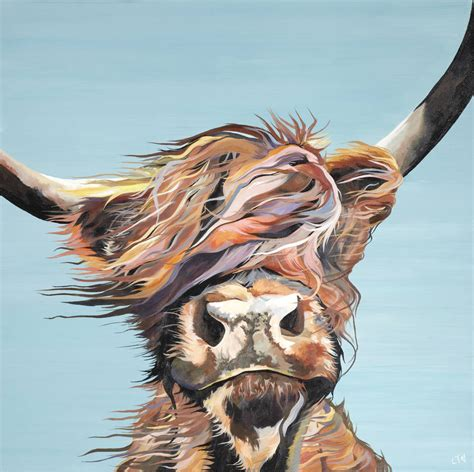 gone with the wind highland cow greetings card by lauren's ...
