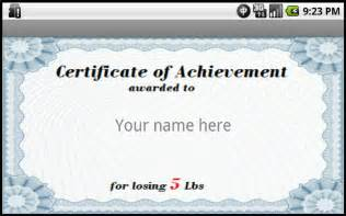Weight Loss Certificate Template by Losing Weight Awards Android Apps On Play