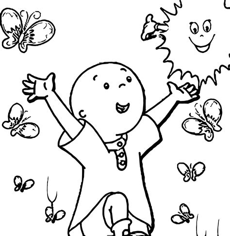 showing affection coloring sheet show poster caillou coloring page wecoloringpage