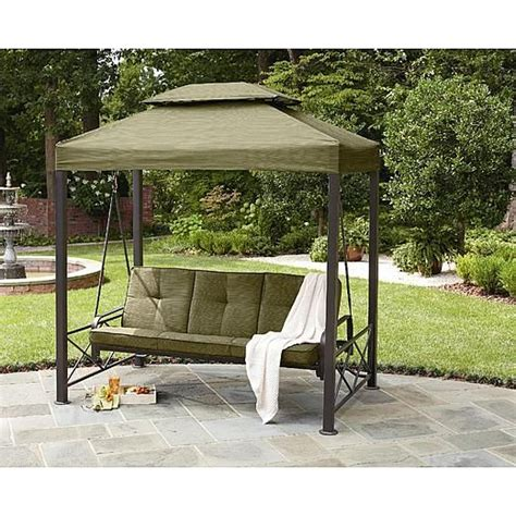 gazebo swing garden oasis 3 person gazebo swing living space pinterest