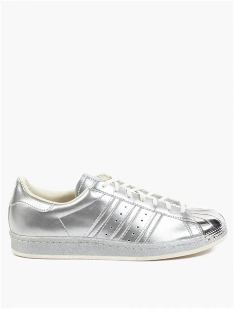 adidas originals silver superstar  metallic pack sneakers  silver  men lyst
