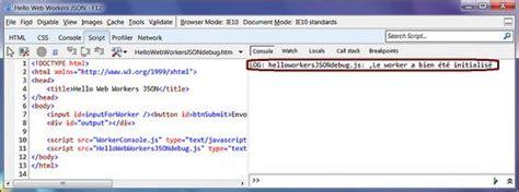 console log apply web worker en html5