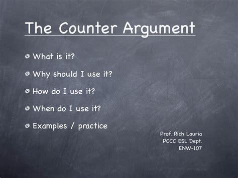 counter argument presentation