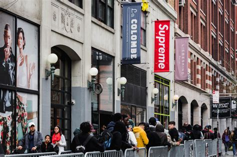 supreme new york supreme s banner allegedly stolen from nyc store hypebeast