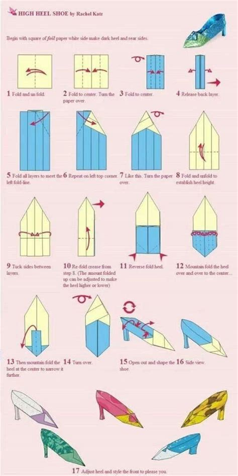 How To Make Origami High Heel Shoe - 1000 images about craftwork projects for me on