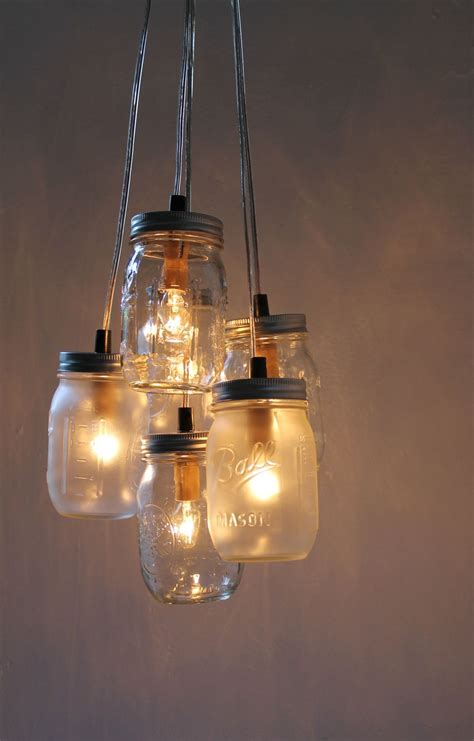 mason jar lights how to upcycle jars into a chandelier