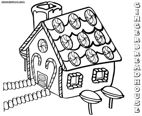 gingerbread house coloring pages house free download