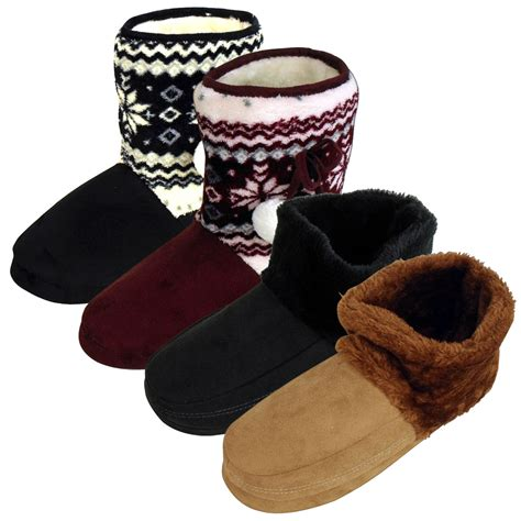 mens fuzzy boots womens mens dunlop ankle boot bootee slipper