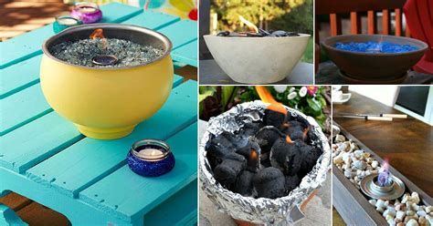 warm diy tabletop fire bowl fire pit ideas  small