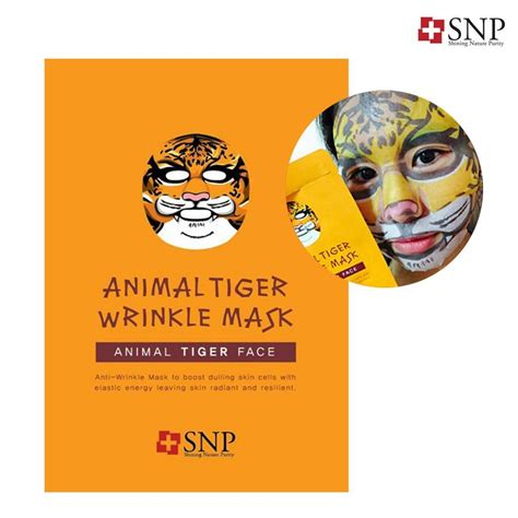 Original Snp Animal Mask Masker Animal Sachet jual snp animal tiger wrinkle mask korea masker wajah