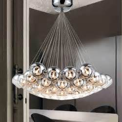 Dining Room Pendant Chandelier Modern Chrome Glass Balls Led Pendant Chandelier Light For Living Dining Study Room Home Deco G4