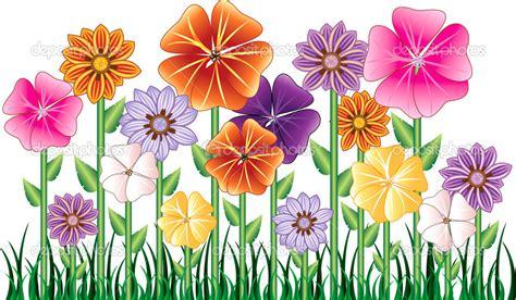 garden flowers clip flowers clip flower garden stock vector