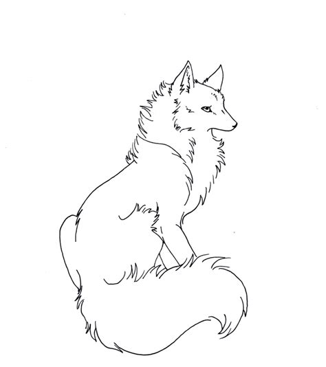Fox Drawing Outline by Free Wolf Fox Lineart By Eclipsedwolf On Deviantart