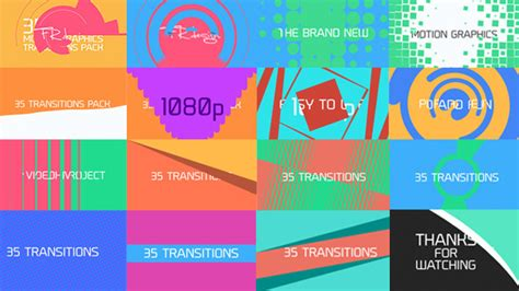 35 cool motion graphics transitions by pixfield videohive