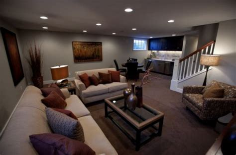 basement couches make a cold basement look attractive