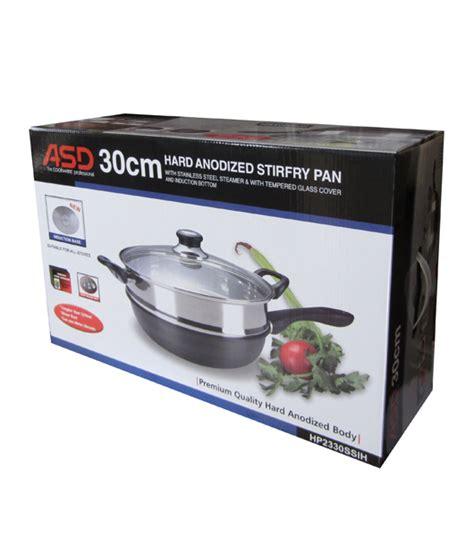 Wok Steamer 30 Cm 30cm anodised induction skillet wok s steel steamer heap seng pte ltd