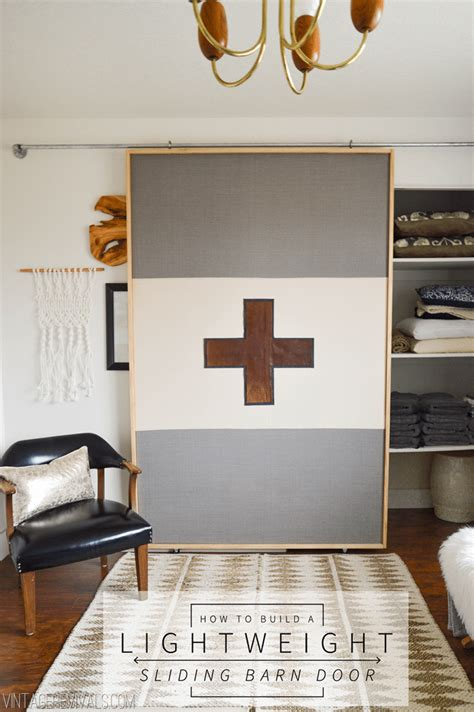 How To Build A Lightweight Sliding Barn Door Vintage Lightweight Barn Door