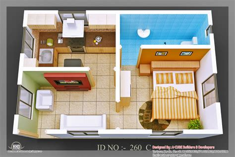 micro house plan 3d isometric views of small house plans kerala home