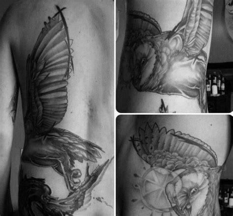 owl tattoo rib cage 60 barn owl tattoo designs for men lunar creature ink ideas
