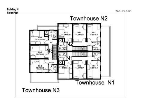 student housing floor plans village townhouses washington and lee university