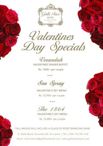 valentines dinner offers s day 2017 meals deals more 183 yamu