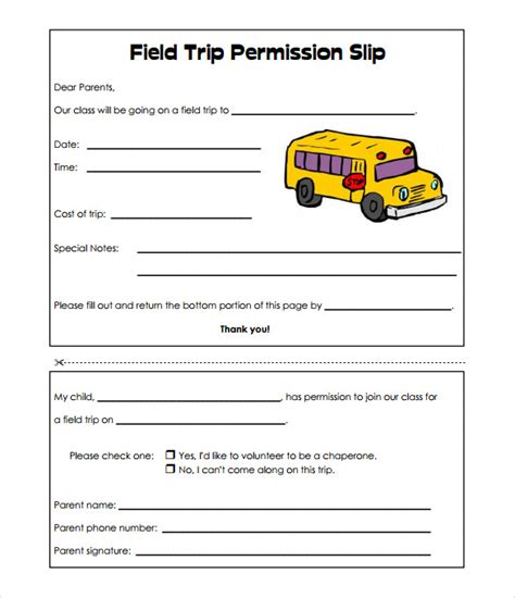 school trip form template slip template 13 free word excel pdf documents