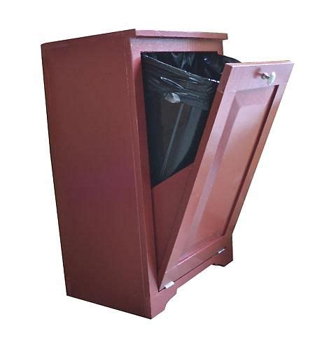 hidden trash can cabinet must build this to hide my ugly kitchen trash can i m