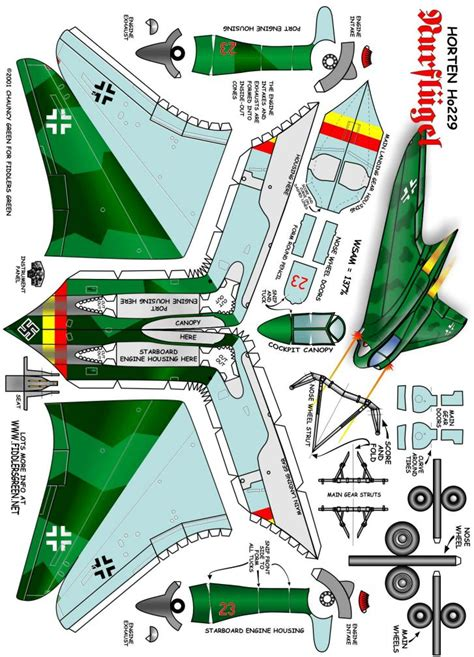 pattern paper hobbycraft horten ho 229 craft paper toys for boys pinterest
