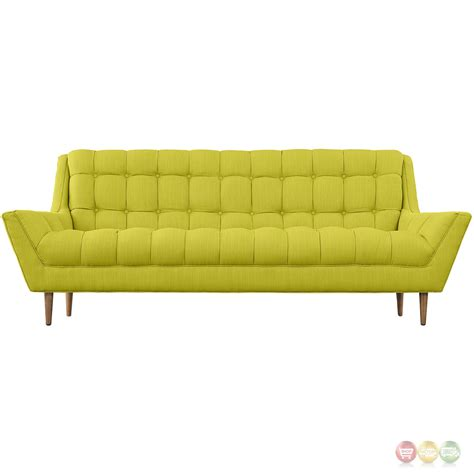Modern Tufted Sofa Response Contemporary Button Tufted Upholstered Sofa Wheatgrass