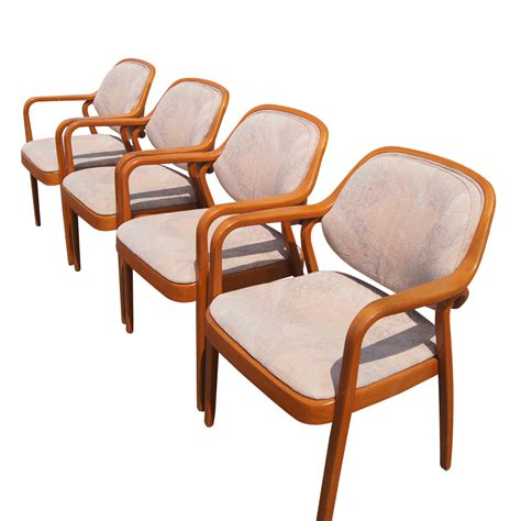 4 knoll don petitt wood 1105 dining side chairs ebay