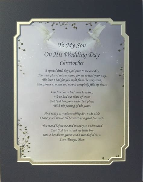what to gift my on day to my on his wedding day poem personalized gift ebay