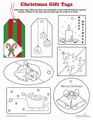printable holiday gift tags to color christmas gift tags to color coloring page education com