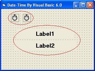 membuat jam digital menggunakan vb 6 membuat tanggal dan jam digital menggunakan visual basic 6