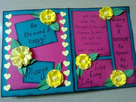 Easy Handmade Birthday Cards - lina s handmade cards simple birthday card
