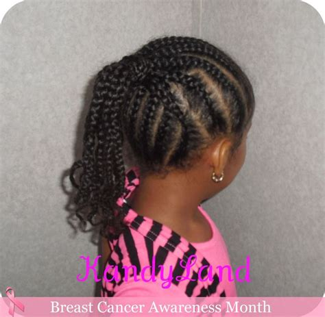 kandy braids little black girl hairstyles pony tails black braided