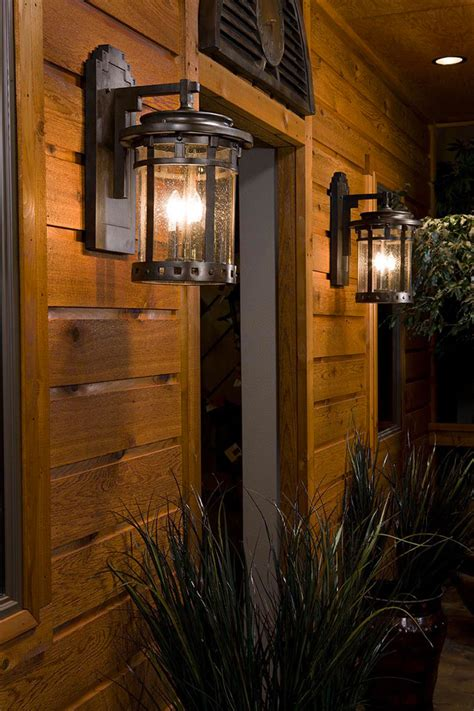 rustic ls for cabins cabin outdoor lighting installing rustic outdoor